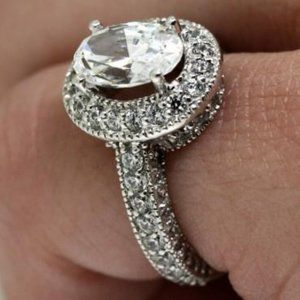 2.05 Carats/VVS1 CVD diamonds Wedding ring gold wh